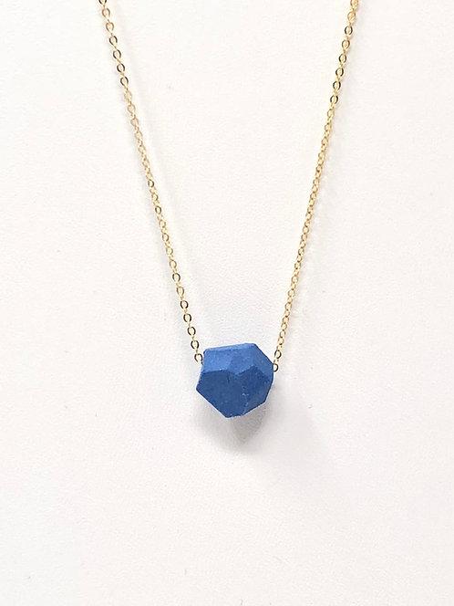 Delph Blue Petite Faceted Necklace