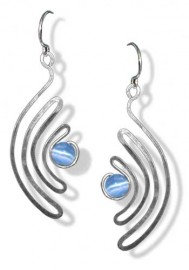 Waves Silver Earrings