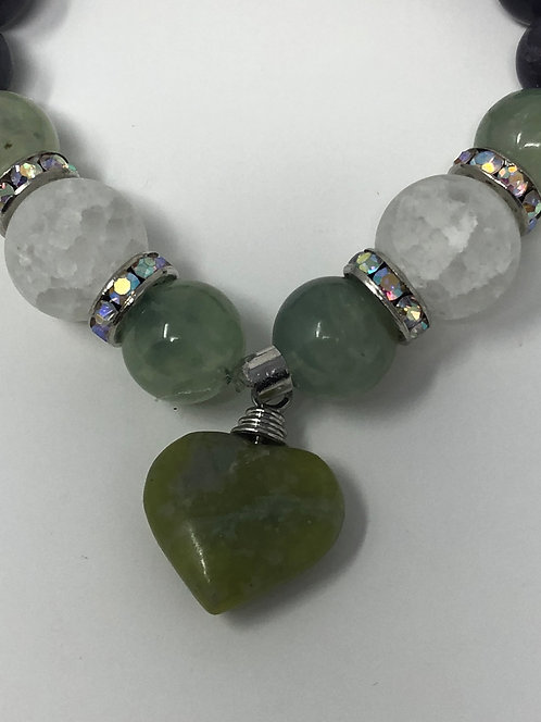 Green Adventurine and Jade Bracelet