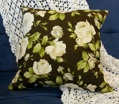 Two Tone Floral Pillow