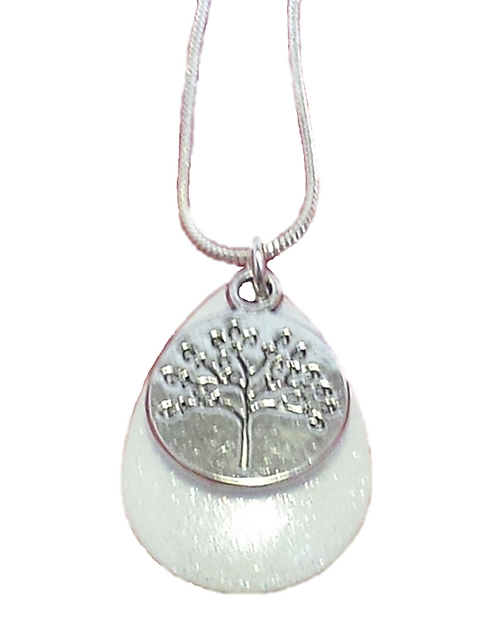 Tree of Life White Sparkle Necklace