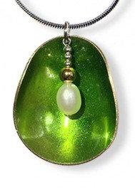 Half Shell Green Pendant