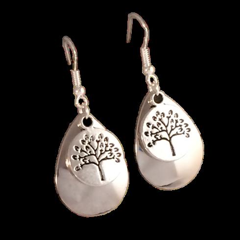 Tree of Life Silver on Silver Earrings