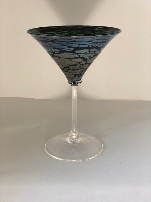 Silver Spider Martini Glass