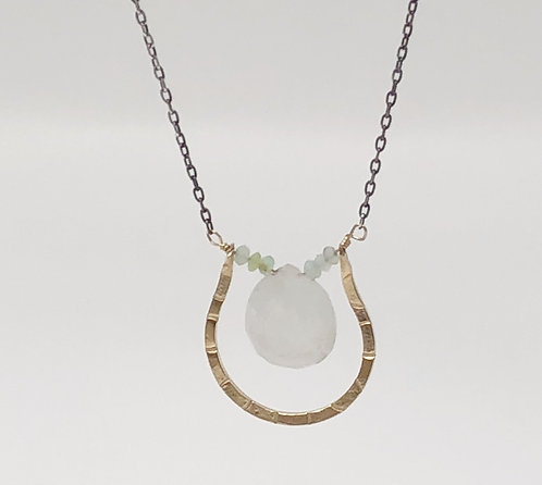 Peruvian Opal and Moonstone Necklace