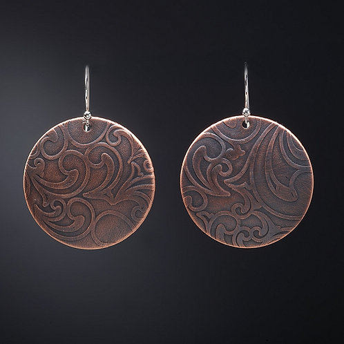 Round Paisley Earring