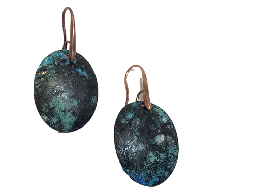 Sweet Oval Earrings - Bryzentine Blue