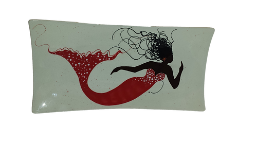 Mermaid Rectangular Platter - Red