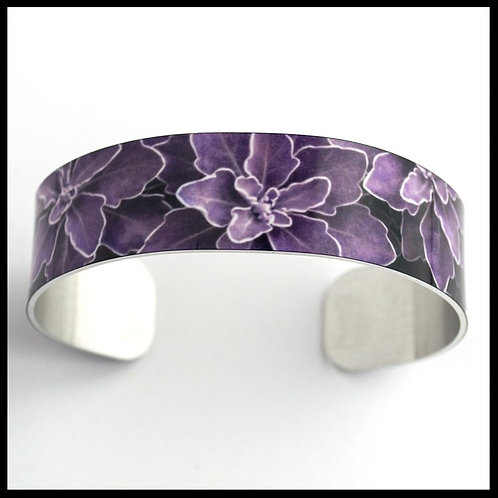 Purple Plant Medium Cuff Bracelet