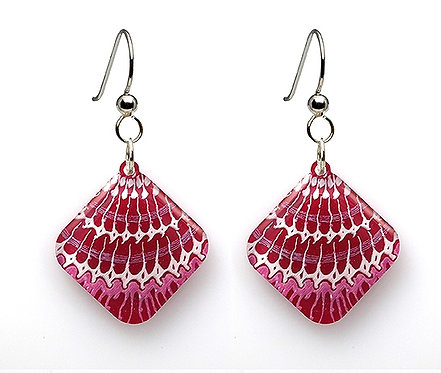 Flamingo Painted Shell Earrings