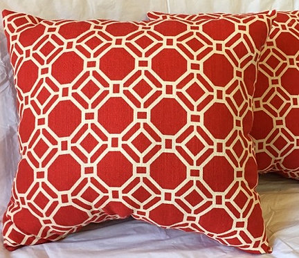 Red and Cream Pillows