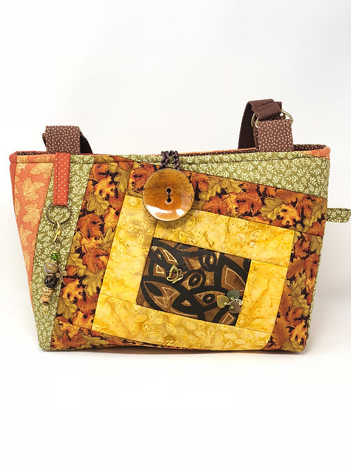 Autum Leaves Quilted Tote