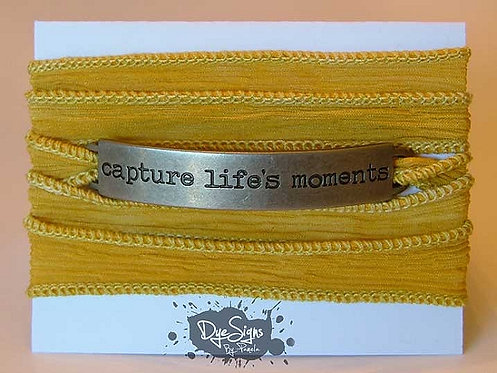 """Capture Life's Moments"" Inspirational Silk Wrap Br"