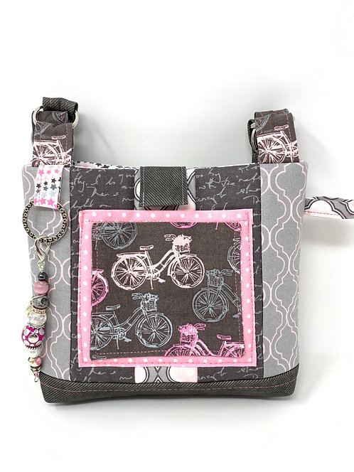 Quilted Bicycle Phone Pouch