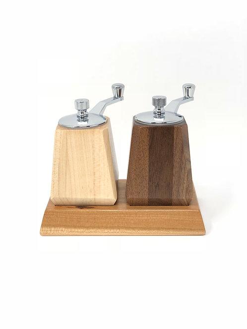 Salt & Pepper Grinder w/Tray