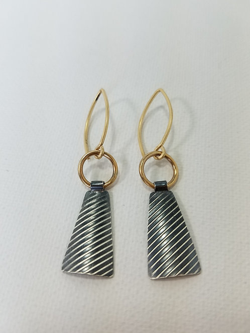 Lucie Earrings Sterling Silver/Gold Fill