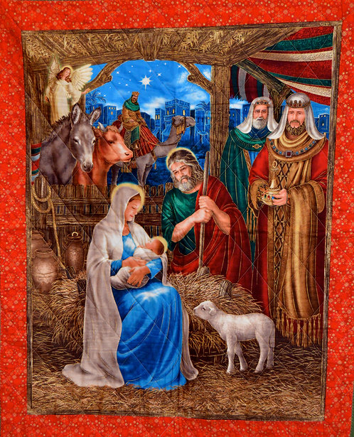 Quilted Nativity Scene Wall Hanging