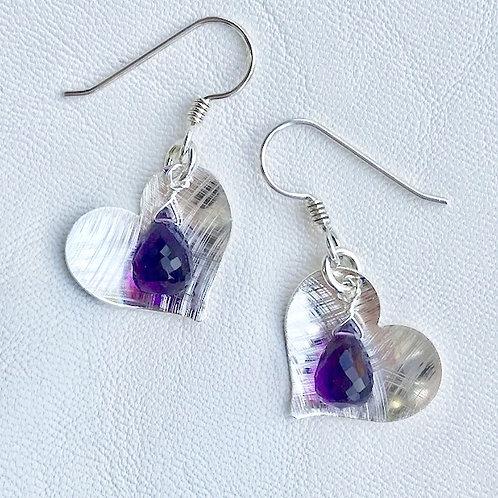 Small Love Amethyst Earrings