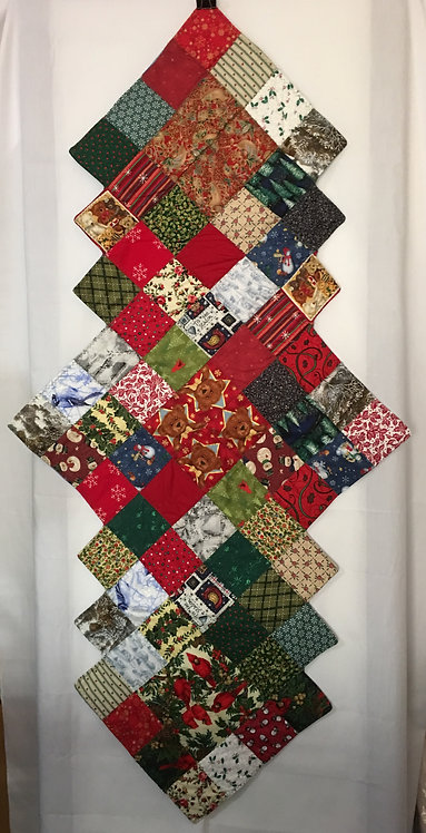 Quilted Christmas Bears Table Runner