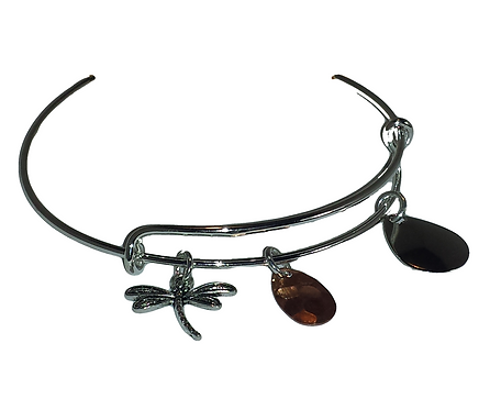 Adjustable Dragon Fly Charm Bracelet