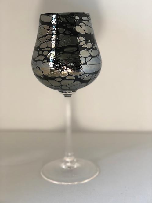 Silver Spider Wine Glass