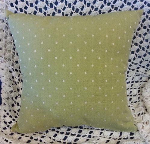 Light Pea Green Dotted Pillow