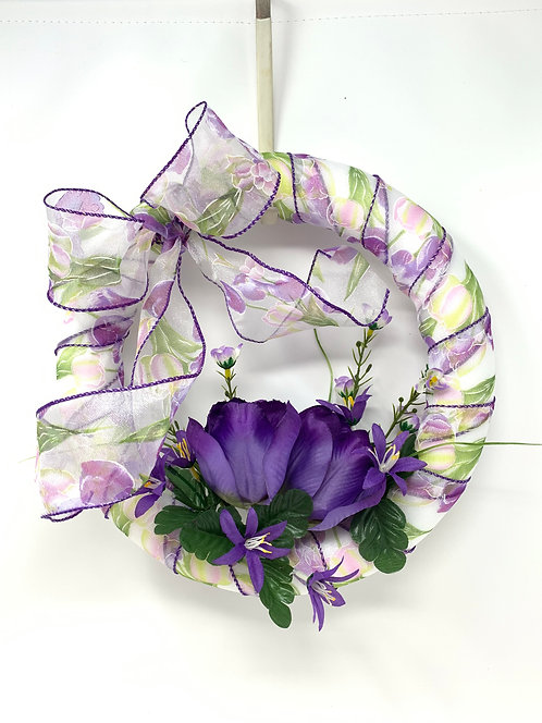 Purple Tulip Wreath