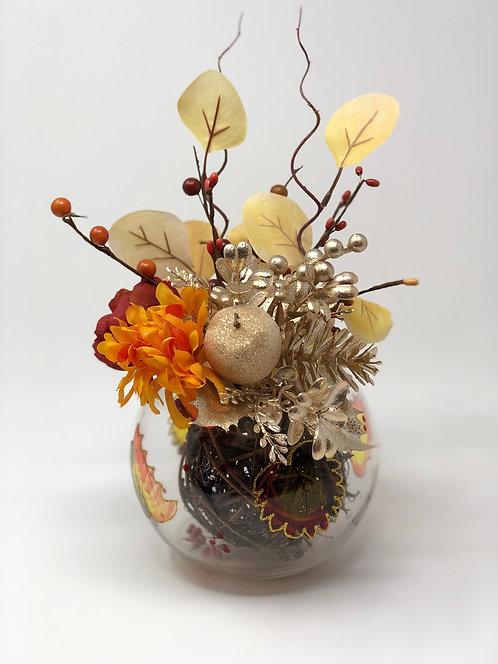 Fall Floral Bowl