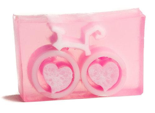 Grapefruit Bike Love Soap by the Slice