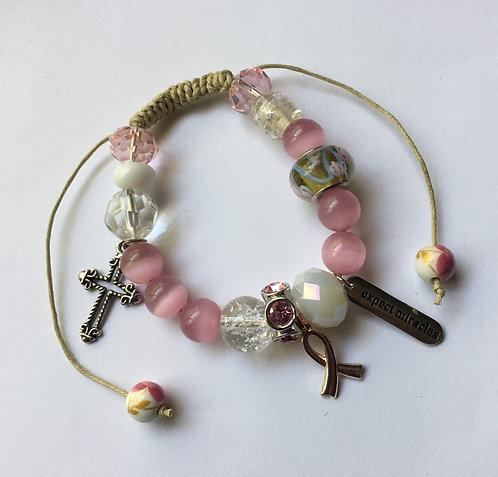 At The Cross Pink Bracelet