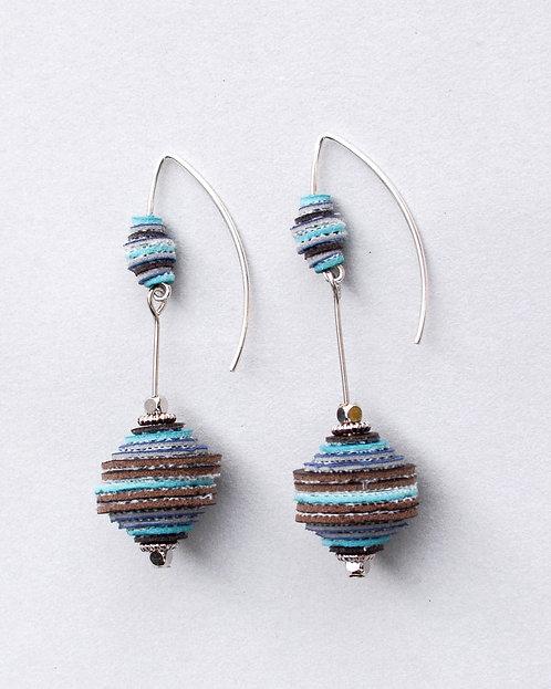 Blu Bobbles Vinyl Earrings