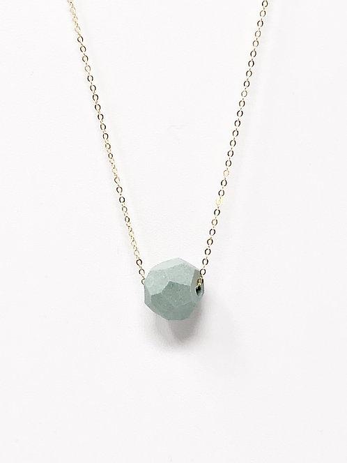 Mint Petite Faceted Necklace