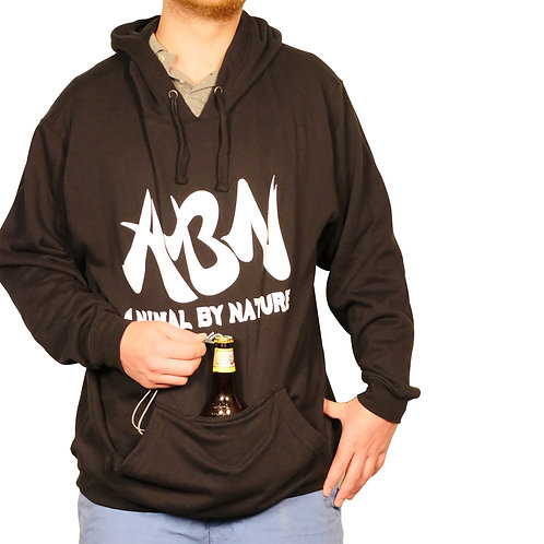 ABN CLASSIC PULLOVER HOODIE WITH KOOZIE - BLACK