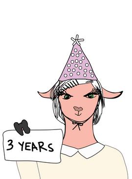 Illustration for Small english 3rd birthday