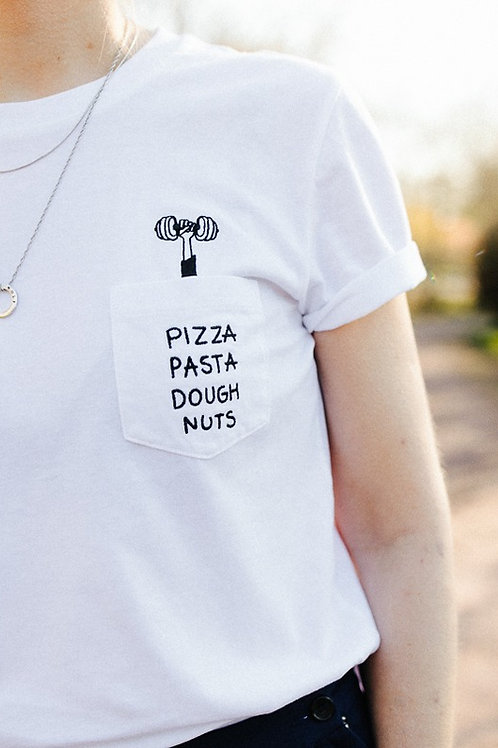 PIZZA PASTA DOUGHNUTS T-SHIRT