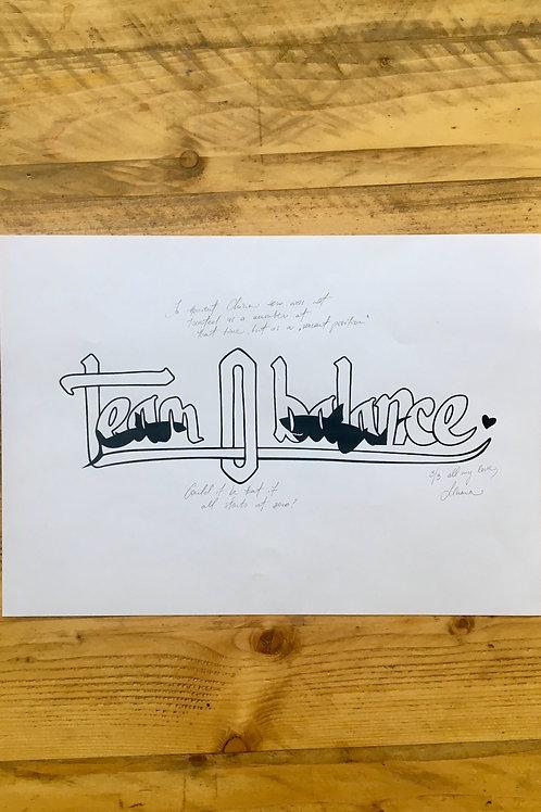 TEAM ZERO BALANCE print