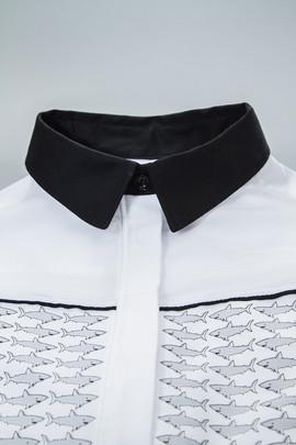 LLAMAS ALSO SHARKS shirt