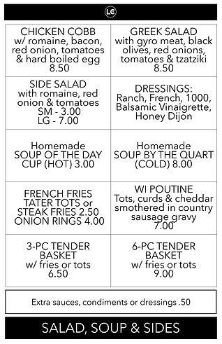 Salad, Soups & Sides LC Market Necedah