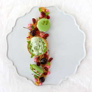 Absinth-Sauerkirsch Tartelettes