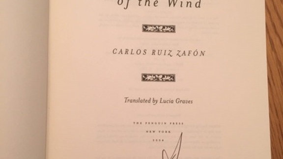 The Shadow of the Wind -- Carlos Ruiz Zafon