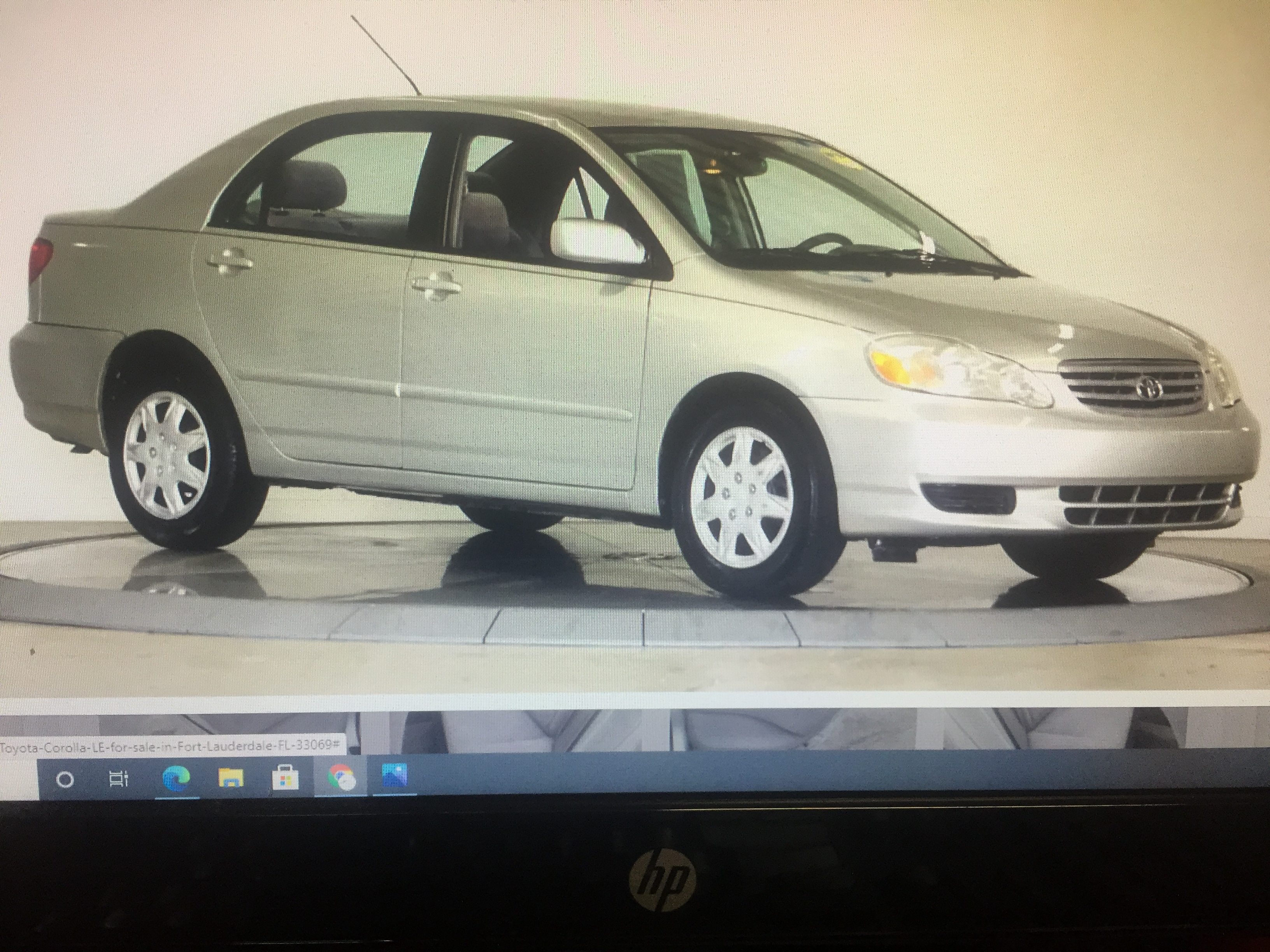2003 Toyota Corolla Retail price $3,995 Internet cash Special $3,495