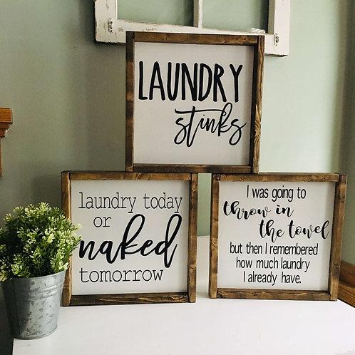 Laundry Signs (set of three)