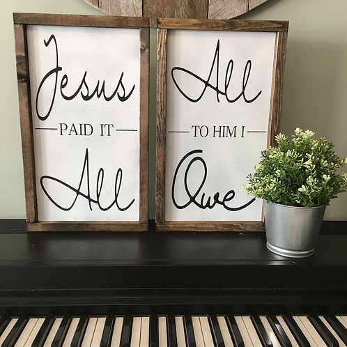 Jesus Paid It All Signs