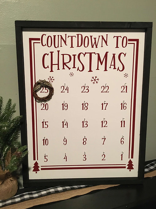 "Countdown To Christmas 23"" x 18"""
