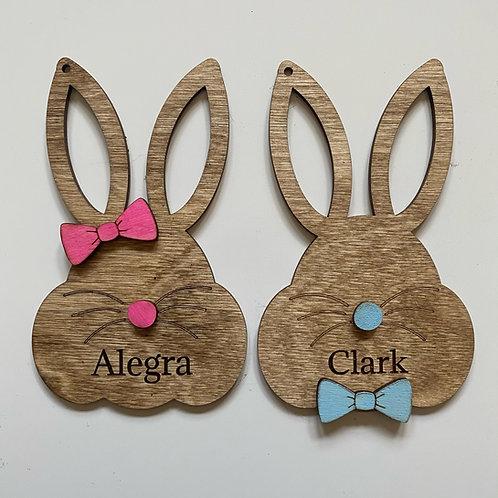 Easter Basket Tags - Bunnies