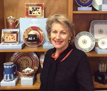 Karen de Koning, expert on fine china and crystal