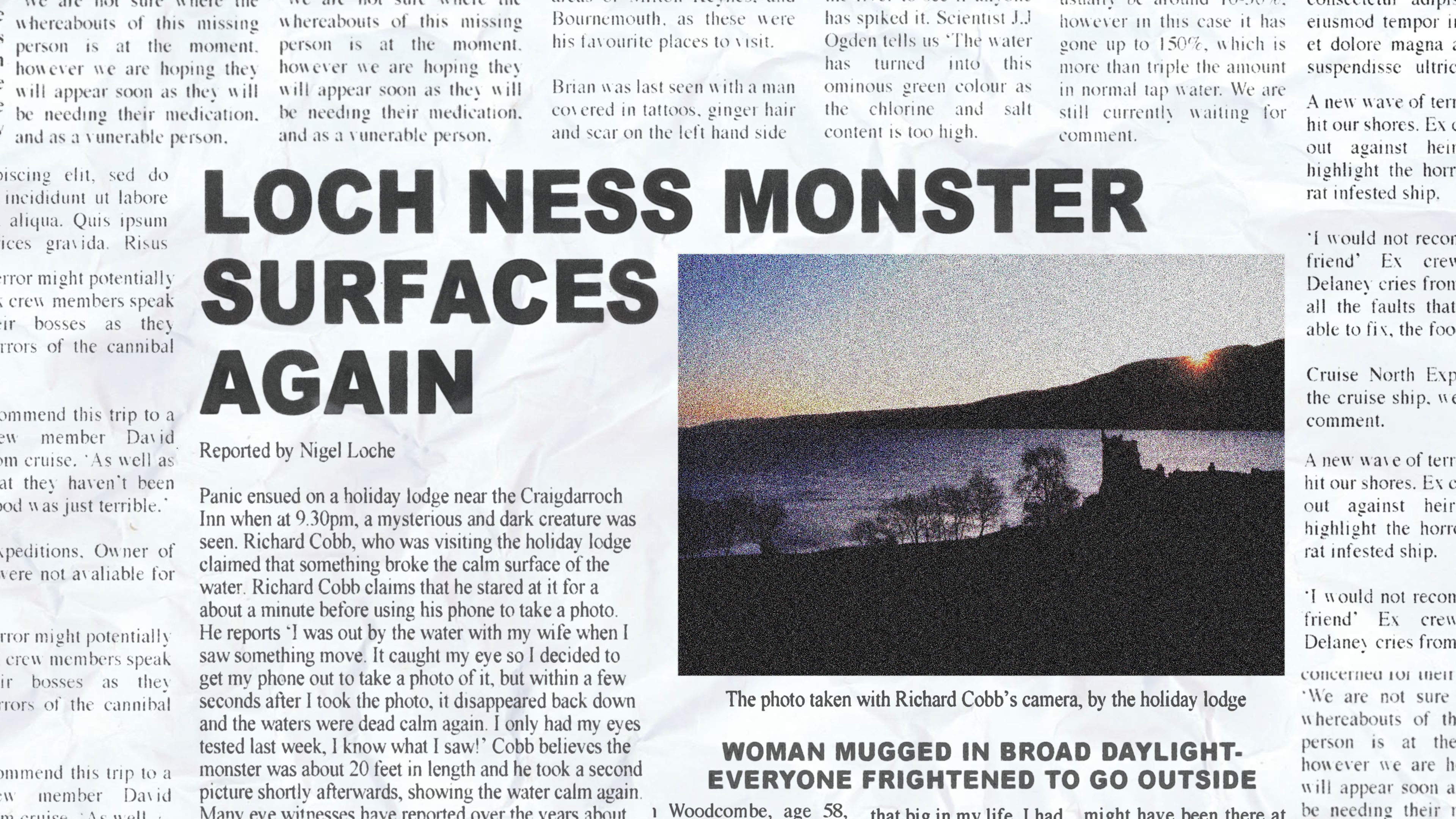 You can now see the newspaper headlines I made on TV show 'Mysteries of the Deep' on Discovery UK!
