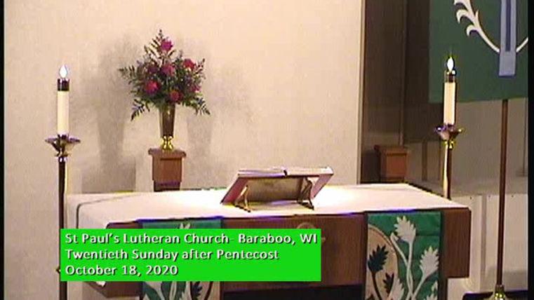 Twentieth Sunday of Pentecost, St Paul's Baraboo