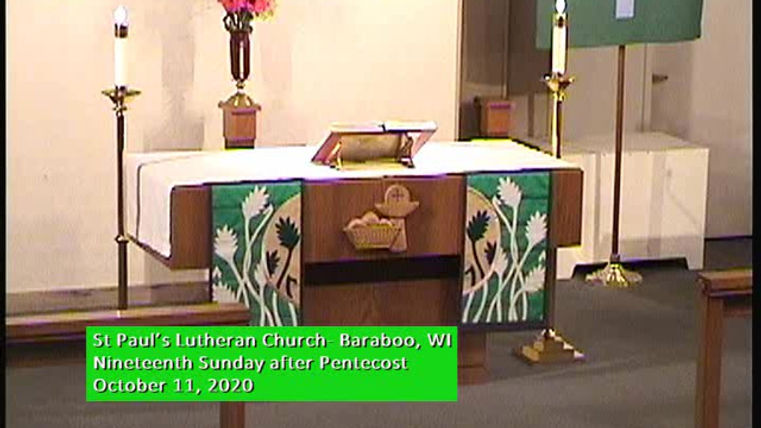 Nineteenth Sunday of Pentecost, St Paul's Baraboo