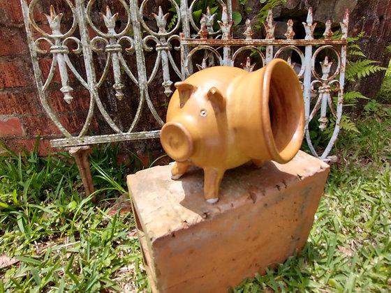 Salt Pig in Nutmeg Glaze